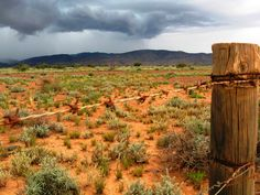 Thunderstorm approaching Parachilna, Flinders Ranges.
