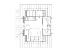 The Salal Studio is a small floor plan with a cottage-like apartment above and room for one car below. Small Floor Plans, Small House Plans, House Floor Plans, Garage Plans, Garage Ideas, Carriage House Garage, Bathroom Floor Plans, Backyard Cottage, Tiny Cabins