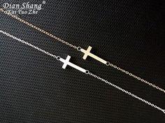 DIANSHANGKAITUOZHE 10pcs Pulsera Mujer Cruz Silver Cross Kors Bracelet Stainless Steel Bracelet Faith Gold Hand Chains Armbanden