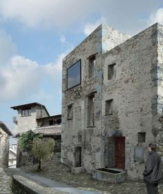 in scaiano ti 2012 New Architecture, Great Names, Concrete Building, Adaptive Reuse, Tiny House Movement, Old Stone, Stone Houses, Old Buildings, Indoor Outdoor
