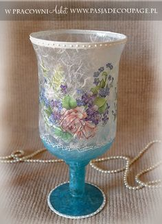 "Looking for more of this for DIY's. *What I can gather: Use very thin paper like napkins and translucent rice paper. This is a gorgeous vase, ""Wazon Szklany Papier Ryżowy"", translated, ""glass vase rice paper"". Much to see here."