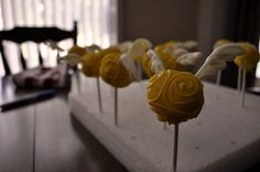 Snitch cake pops- duh