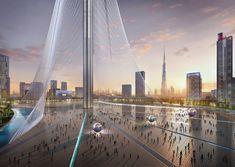 La torre en Dubai Creek Harbour, el proyecto ganador de Santiago Calatrava para una torre residencial y de observación 'hito' para la ciudad de Dubai. #arquitecturasingular
