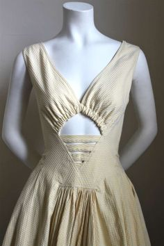 1980's AZZEDINE ALAIA cotton pique dress with cut out image 2
