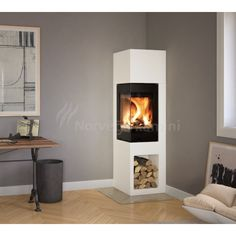 Craig saved to walletNordpeis Kaminbausatz ODENSE 6 kW Kamin Bausatz Of. Home Fireplace, Small Space Living, Fireplace Design, Simple House, Home And Living, New Living Room, Contemporary Fireplace, House Interior, Fireplace Kits