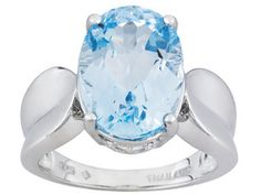 Glacier Topaz (Tm) 7.50ct Oval Sterling Silver Solitaire Ring