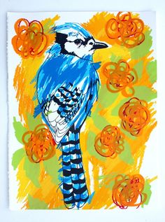 Hey Blue Jay 1 and 2 by BlueBoyd on Etsy, $20.00