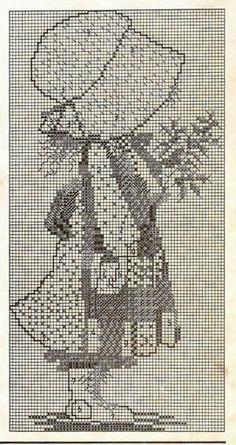 craft home decor: holly hobbie Cute Cross Stitch, Cross Stitch Flowers, Cross Stitch Charts, Cross Stitch Designs, Cross Stitch Patterns, Graph Crochet, Crochet Cross, Holly Hobbie, Cross Stitching