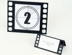 Movie film Tent Place Cards Set of 24 by BluefinWorks on Etsy, $16.80