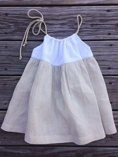 Best 12 Linen dress for little beauty – Soft Couture – SkillOfKing. Toddler Dress, Toddler Outfits, Baby Outfits, Baby Girl Fashion, Kids Fashion, Baby Dress Patterns, Linen Dress Pattern, Dresses Kids Girl, Baby Shirts