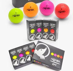 HONMA D1 Golf Balls Muti Color 1 Dozen (12Balls) #HONMA