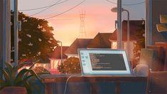 mo comm (online use). Ps Wallpaper, Aesthetic Desktop Wallpaper, Anime Scenery Wallpaper, Computer Wallpaper, Aesthetic Backgrounds, Aesthetic Gif, Aesthetic Pictures, Animes Wallpapers, Cute Wallpapers