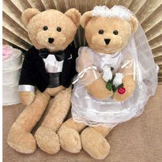"""Wedding Bears sing """"Going To The Chapel"""" OR  """"Love and Marriage"""" and groom bear singing """"Get Me To The Church On Time"""""""