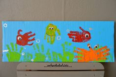 Risultati immagini per fresque poisson maternelle Seasons Activities, Summer Activities, Easy Crafts For Kids, Diy For Kids, Under The Sea Crafts, Preschool Art, Pre School, Toy Chest, Projects To Try