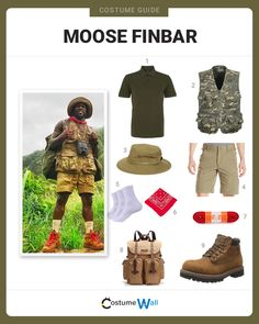 The best costume guide for dressing up like Moose Finbar, the zoologist played by comedian Kevin Hart in Jumanji: Welcome to the Jungle.