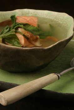 NYT Cooking: Salmon With Ginger And Lemon Grass Broth