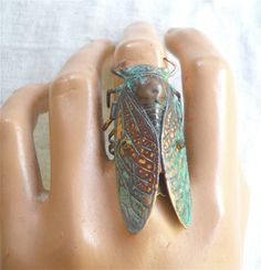 Cicada ring so cool Lip Piercing Ring, Rings N Things, Metal Clay Jewelry, Big Rings, Playing Dress Up, Memorial Day, Fashion Rings, Jewelery, Bronze