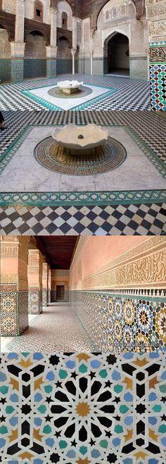 The Medersa El-Attarine in Fez, #Morocco #Interior #Decor #Tiles #Travel #PlanYourEscape #LittleHotels