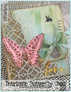 Intricate Butterfly Card Tutorial | www.tammytutterow.com