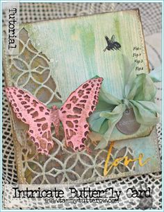 Intricate Butterfly Card Tutorial | www.tammytutterow.com