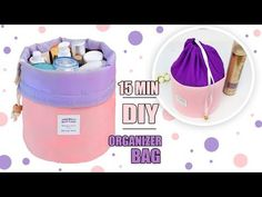 In this video DIY tutorial I show you an easy way to make the travel bag and bag for makeup keeping by own hands from scratch. Diy Makeup Bag Tutorial, Makeup Bag Tutorials, Cosmetic Bag Tutorial, Diy Tutorial, Pouch Tutorial, Diy Crafts Makeup, Diy Makeup Storage, Diy Storage, Fridge Storage