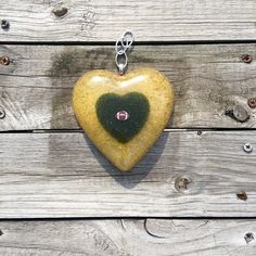 Double Heart with Charm Petal Suncatcher personalized with your flower petals