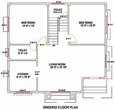 Column Layout for a Ground Floor. Civil Engineering Plan Of Houses Civil Engineering Projects, Civil Engineering Construction, Modern House Floor Plans, Small Floor Plans, Home Design, Modern House Design, Design Design, Building Plans, Building Design
