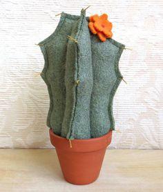 Plush Blooming San Pedro Cactus, Eco Friendly Home Decor, Stuffed ...