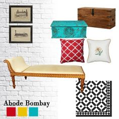 Inspired by Abode Bombay, we created this moodboard which is completely shoppable! Read our blog to know more!