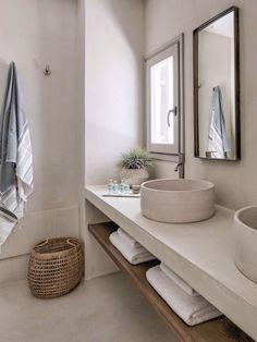 Modern Bathroom Decor, Bathroom Interior Design, Bathroom Ideas, Bathroom Organization, Minimal Bathroom, Neutral Bathroom, Bathroom Lighting, Shower Ideas, Bathroom Designs