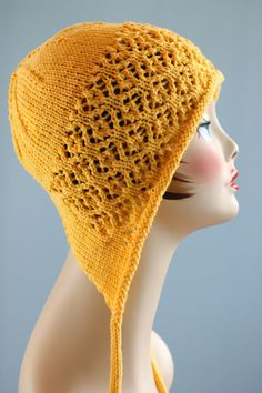 free (matching free scarf pattern/cowl pattern also available) Ravelry: Floral Mesh Bonnet pattern by Gretchen Tracy Knitting Patterns Free, Free Knitting, Hat Patterns, Free Pattern, Knitting Yarn, Baby Knitting, Knit Or Crochet, Crochet Hats, Bonnet Pattern