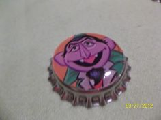 Sesame Street Bottle Caps for Hair Bows by ang744 on Etsy, $4.50