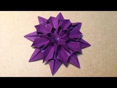 Origami Flower Instructions / Dahlia - http://www.7tv.net/origami-flower-instructions-dahlia/