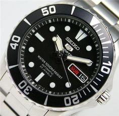 Seiko SNZF17 Seiko 5 Sports Automatic, Seiko Watches, Watch Brands, Luxury Watches, Omega Watch, Watches For Men, Wristwatches, Fancy Watches, Men's Watches