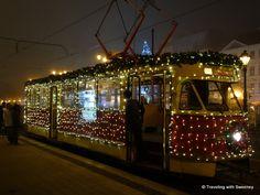 Festive #Christmas #tram in #Bratislava, Slovakia