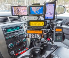 Always wondering where I left my HT lying in my mobile, I decided to add a mount to my radio-stack, especially for positioning one of my HT''s in place allowing me to keep track of it. In this photo I have the Kenwood positioned on the mount as seen on Bmw M4, Mobile Ham Radio, Patrol Y61, Tactical Truck, Ham Radio Antenna, Custom Car Interior, Toyota Tacoma, 3d Modelle, Bug Out Vehicle
