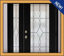 To do around our front door: frosted window films with a lot of different designs, for privacy