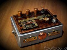 Vintage steampunk fuzz guitar pedal #steampunk, #guitar, #pedal