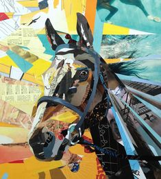 collage art | Horse Collage by Patrick Bremer