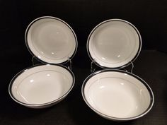 Very good condition. There may be minimal wear on platinum. Soup Bowls, Cereal Bowls, Small Businesses, Fathers Day Gifts, Minimal, Plates, Gift Ideas, Tableware, Vintage
