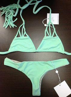 ooooh I like this color even better. Acacia Swimwear 2013 Haena top & Ho'okipa bottom in Melona.