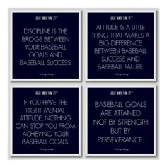 #Baseball #Quotes for Motivation: Success Poster