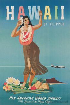 Living room  vintage travel poster