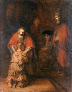 Художник Рембрандт Харменс ван Рейн. Возвращение блудного сына (ок. 1666-69,Эрмитаж)