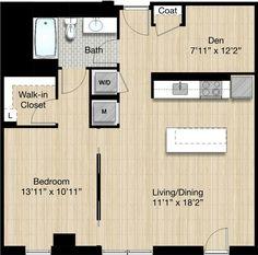 Floor Plans | CityCenter Apartments | Studios | 2 or 3 Bedrooms