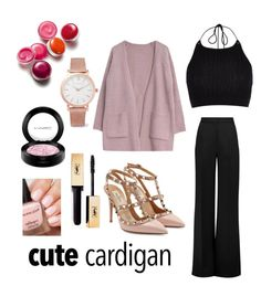 """Cardigan"" by elena-horan7 ❤ liked on Polyvore featuring Roksanda, River Island, Goroke, Clinique, MAC Cosmetics, Valentino, Larsson & Jennings, cutecardigan and springlayers"