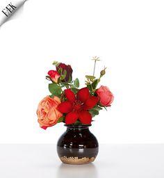 Flowers Moulin Rouge Table Smalle Artikelnummer: 7043 Fake flowers - red orange- artificiële bloemen - rood oranje - rental - huren verhuur - events - evenementen - party - feest