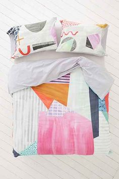 Agnes Colorblock Duvet Cover - Urban Outfitters