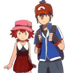 Marian and Alian as Ash and Serena