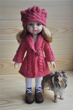 Кардиган и шапочка отлично подойдут на куколку Паола Рейна, т.к. вязались…